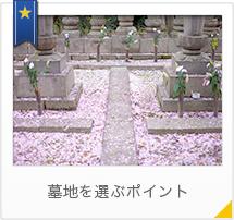 墓地を選ぶポイント